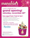 Free Fro-Yo with Donation at Menchie's-Paces Ferry on November 20