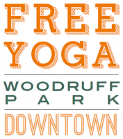 Free Yoga in the Park at Woodruff Park in Atlanta