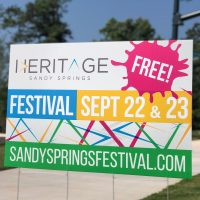 Sandy Springs Festival at Heritage Green on September 22 & 23, 2018