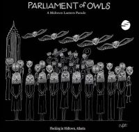 Parliament of Owls Lantern Parade in Midtown Atlanta on August 3, 2018