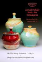 MudFire Holiday Studio Show (& Sale) November 23-December 23 + Holiday Party on December 1, 2012