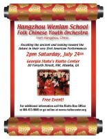 Free Folk Chinese Youth Orchestra Performance at the Rialto on July 24