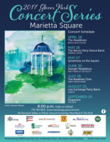 Free Glover Park Concert Series in Marietta Square: 2017 Season