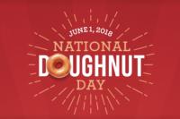Free Doughnut at Krispy Kreme & Dunkin' Donuts on June 1, 2018