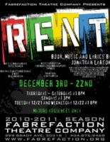 $15 Tickets to RENT at the Fabrefaction Theatre