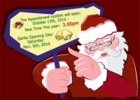 PSA: Santa at Phipps Reservations Start Tomorrow, October 13