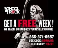 Free Week of Music Lessons at School of Rock