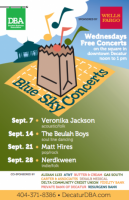 Free Blue Sky Concerts in Decatur on Wednesdays in September 2016