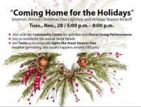 Holiday Celebration & Christmas Tree Lighting in Smyrna on November 28, 2017