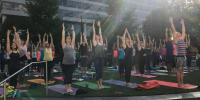 Free Yoga on the Square at Colony Square on Wednesdays through September